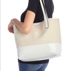 Kate Spade Leather canvas tote bag